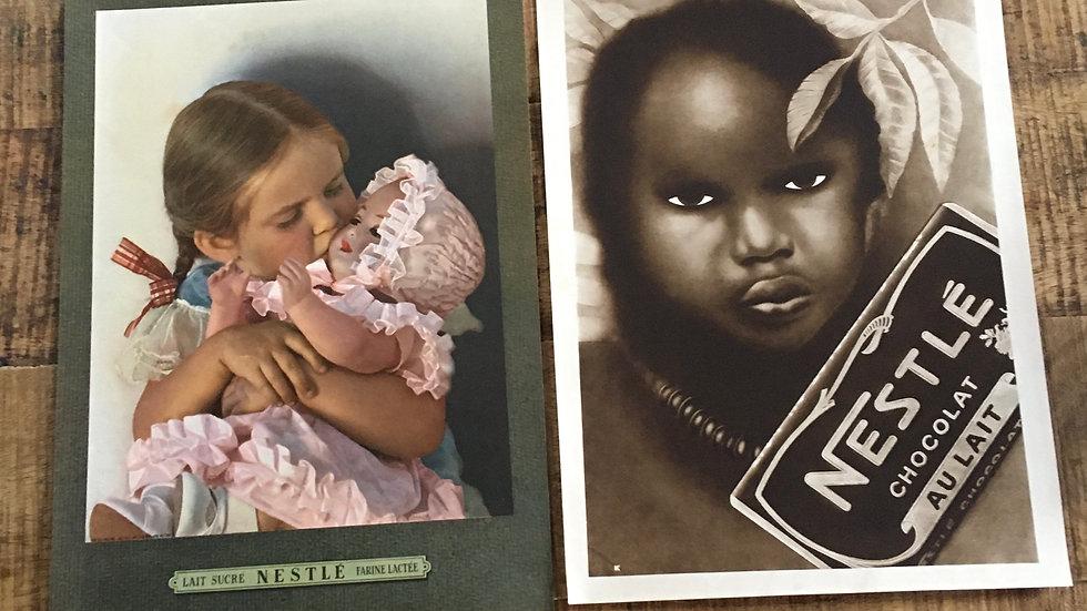 Lot 2 publicités années 30 et 40 NESTLE couleur