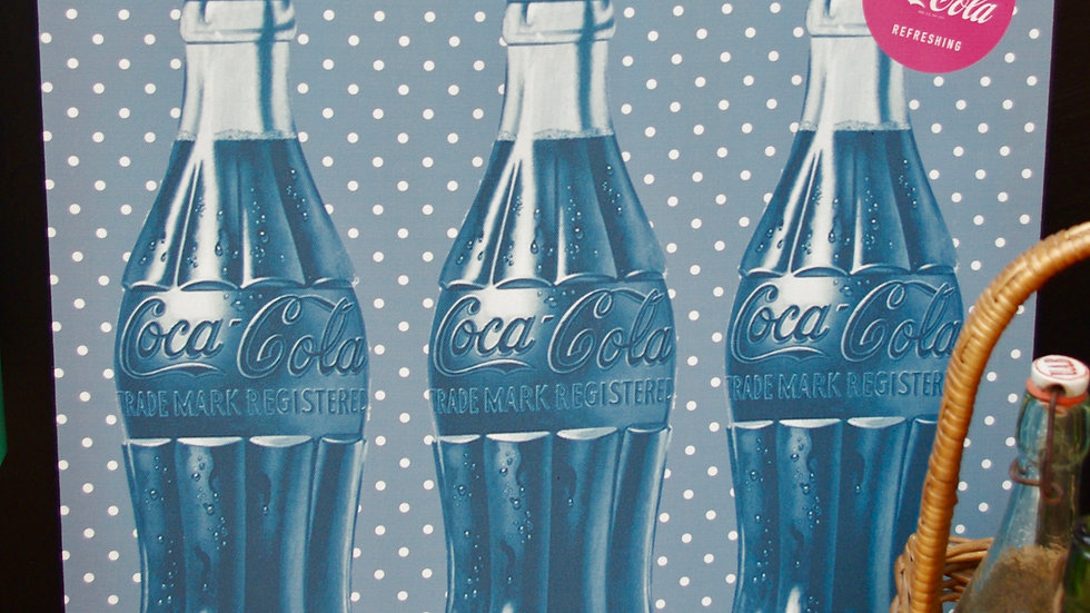 Toile tendue Coca Cola vintage