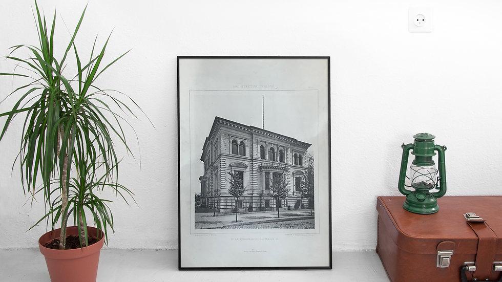Illustration architecte Berlin 19ème villa Königin