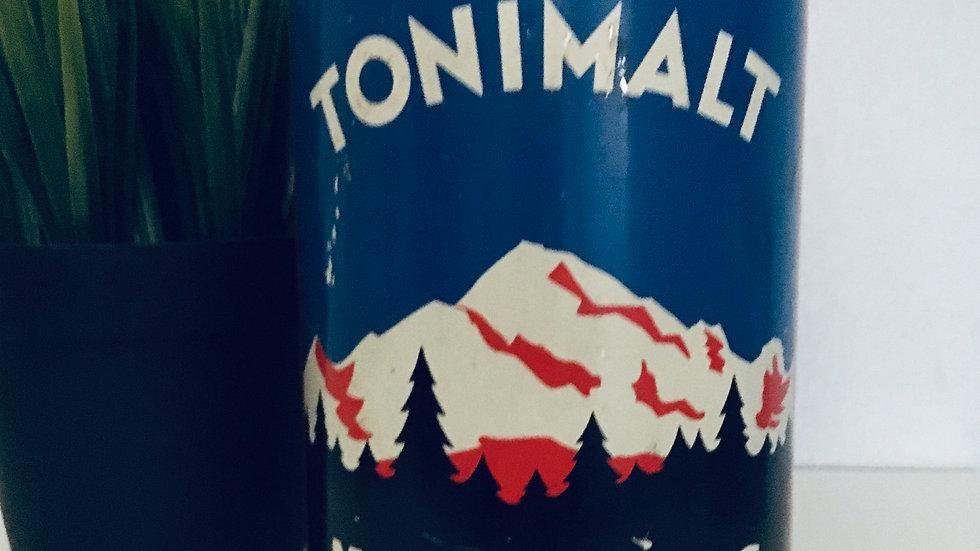 Boîte tôle lithographiée TONIMALT Mont Blanc vintage