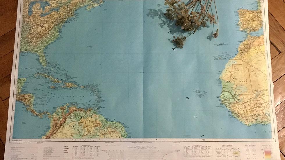 Carte géographique Amérique Centrale IGN 1965