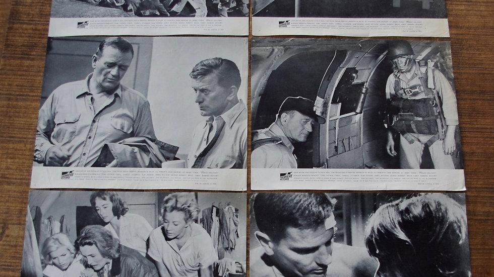 Lot 6 lobby cards ou repro photos Première Victoire 1965
