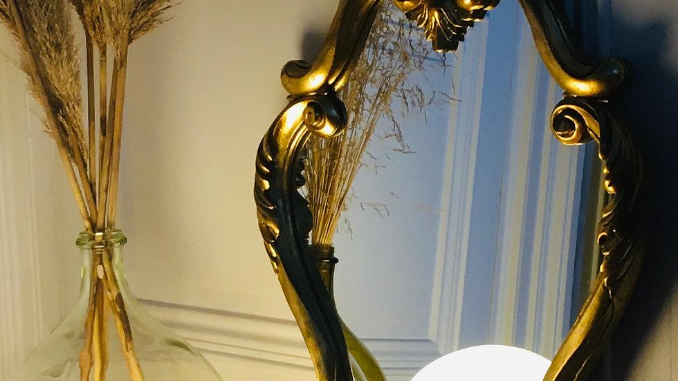 Miroir bois doré ancien style Louis XV