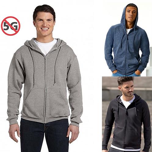 5G SÄTEILYSUOJAHUPPARI | SILVERCELL | EMF PROTECTION HOODIE (pocket/zip)