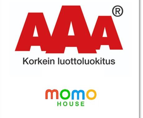 Momo House Oy on vastuullinen ja kotimainen korkeimman AAA -luottoluokituksen yritys.