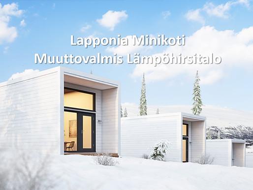 Energiatehokas ja muuttovalmis Lapponia Minikoti. Muuttovalmis hirsitalo tai lämpöhirsitalo.