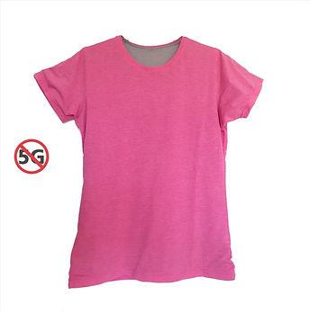 Silvercell womens EMF t-shirt pink.jpg