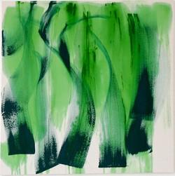 GREEN DANCE olio e acrilico su tela 100