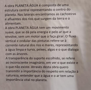 Conceito da instalação Planeta Água