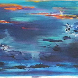 PETROLEO, oleo sobre tela, 50x140, 2017.