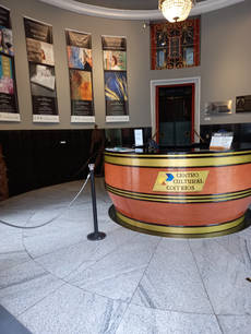 Hall de entrada principal do Centro Cultural Correios RJ