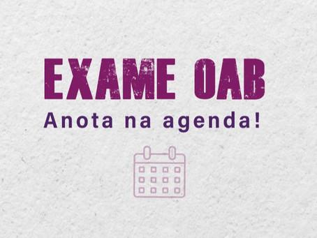 Saiu a data da prova da OAB e agora?