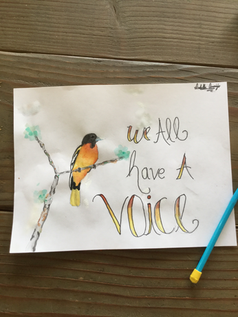 """""""The Voice of an Oriole"""" (Watercolor)"""
