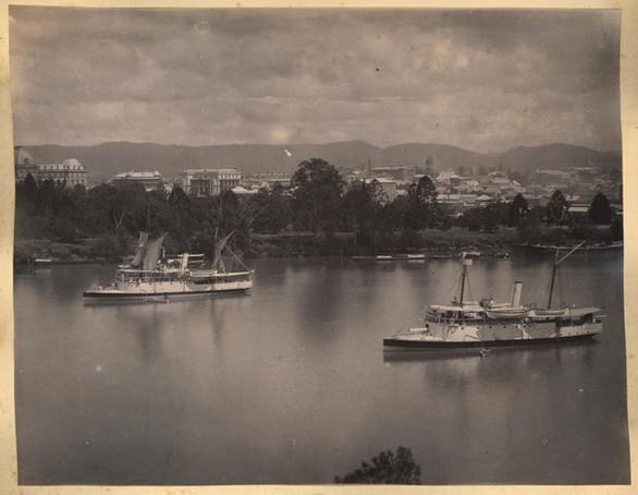 Gunboats Paluma and Gayundah,c1885