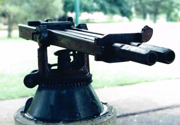 2-barrel Nordenfelt gun