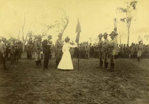 Presentation of Colours, 1st Queensland Contingent, 1899