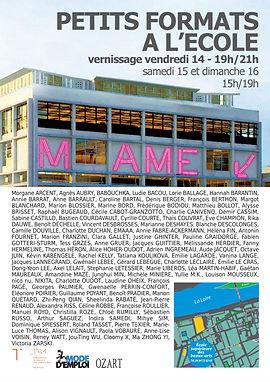 Affiche Exposition ESBA 2018 Petits formats Céline Robbe