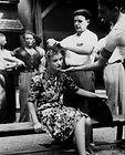 femme tondue, photographie d'époque, mod