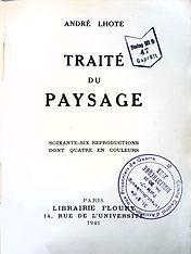 Traité du paysage, André Lhote