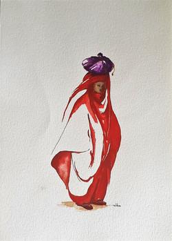 """Jeune femme rouge"""