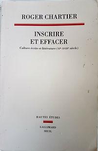 Inscrire et effacer, Roger Chartier.jpg