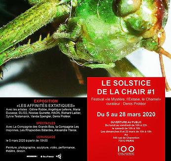 Affiche du festival Le Sostice de la cha