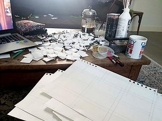 Réalisation des coussins en cartons