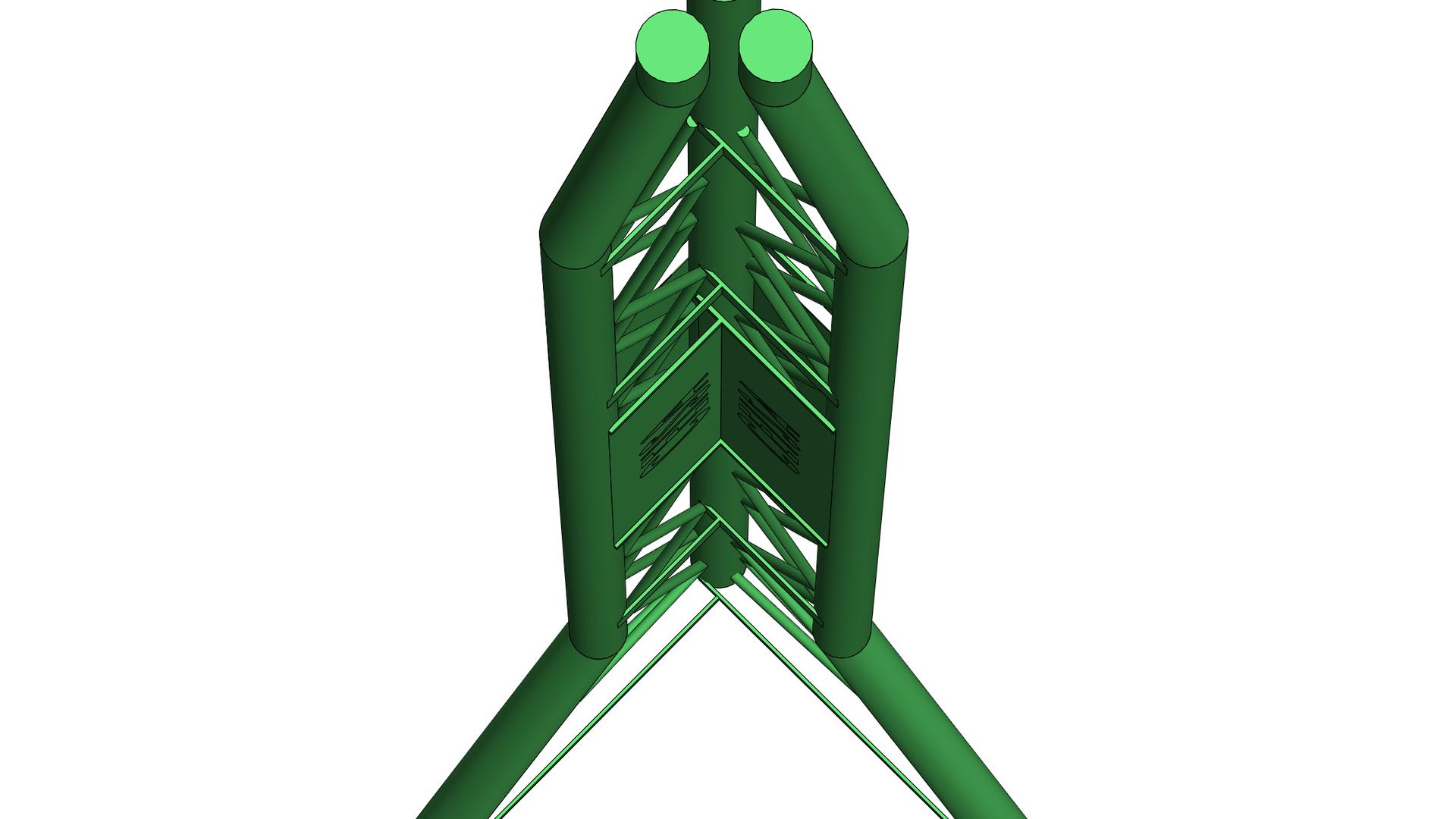Torre acero tubular D-9
