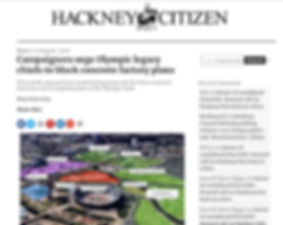 Hackney Citizen Campaigners urge Olympic legacy chiefs to block concrete factory plans