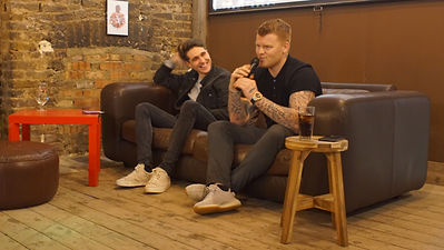 John Arne Riise with Luca Hodges Ramon talking about autobiography Running Man