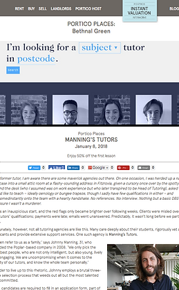 Portico plces Bethnal Green focus on Manning's Tutors