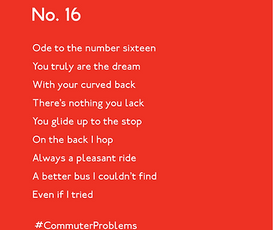 Problem Commuter. No. 16 Poem