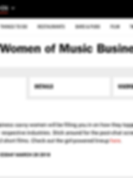 Time Out London Women of Music Business Number 177 Bar an Kitchen Hoxton