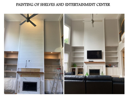 Painting of entertainment center