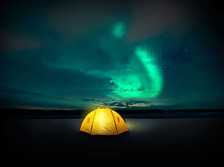 Out in the wilderness The Norther lights