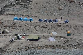 campmento base y tiendas trekking