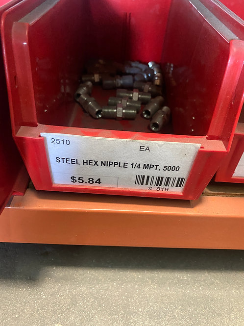 STEEL HEX NIPPLE 1/4 MPT, 5000