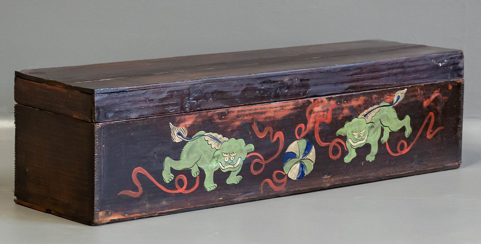 Painted Chinese Scroll Box