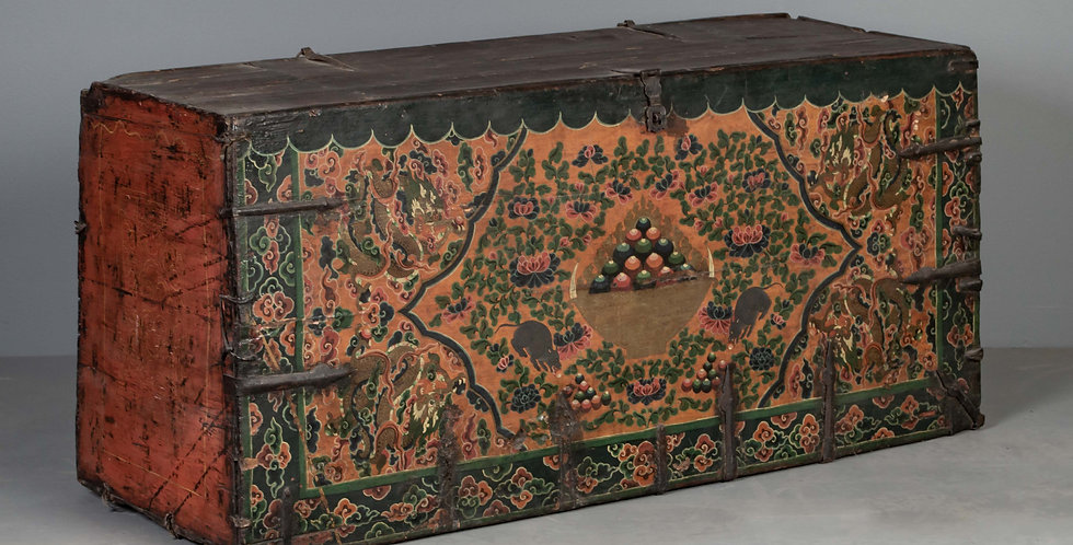 Antique Tibetan Trunk / Wealth Chest