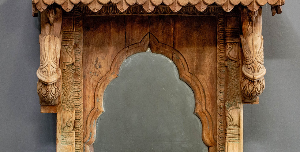 Antique Architectural Remnant with Mirror
