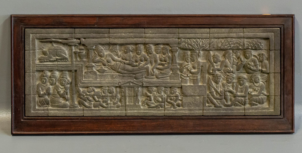 Carved Indonesian Stone Panel
