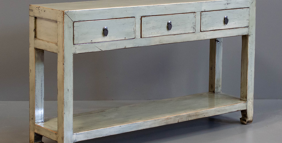 Gray Painted Chinese Console Table