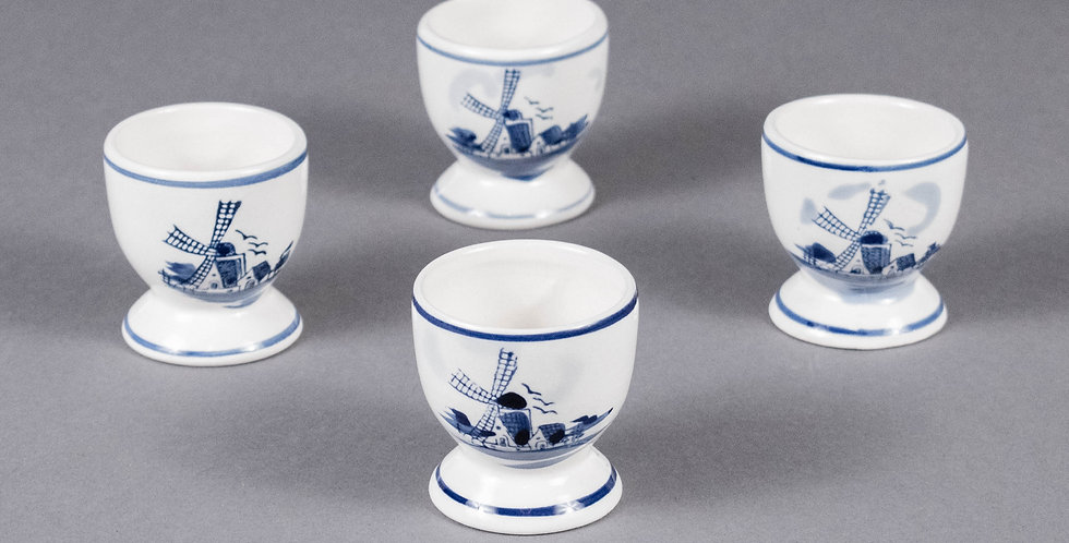 Vintage French Ceramic Egg Cup Holders