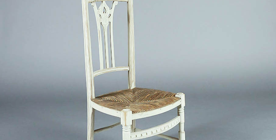 1910 French Tall Back Knitting Chair