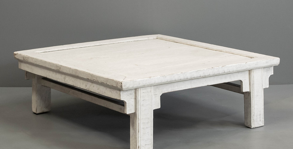 Square White Painted Pine Coffee Table