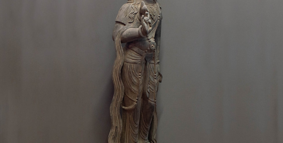 Carved Stone Quan Yin Statue