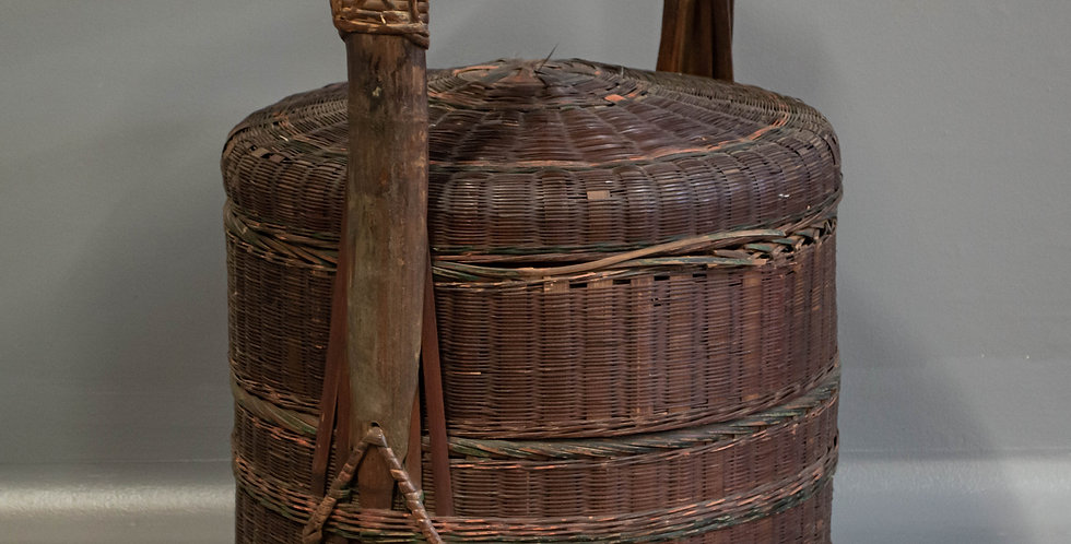 Two Tiered Hand Made Chinese Wedding  Basket