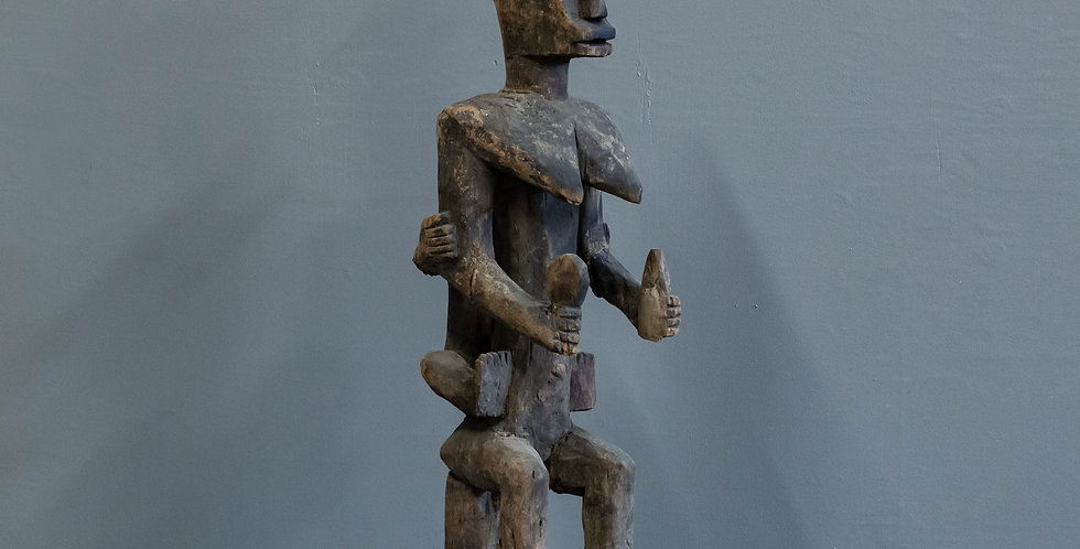 Vintage Carved Tribal Statue from Nigeria.  Wood Sculpture
