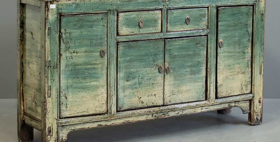 Antique Painted Chinese Sideboard/Cabinet