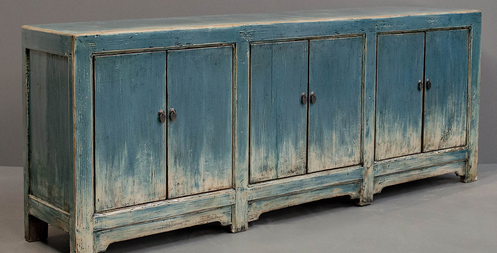 Large Blue Painted Chinese Sideboard/Cabinet